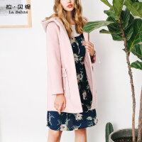 中长款羊毛呢子大衣2018秋冬季新款韩版原宿风学生加厚保暖外套女
