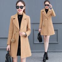 毛呢大衣女中长款2017冬季新款韩版修身显瘦呢子加棉加厚chic外套
