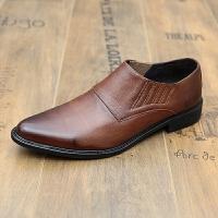 CUM 潮牌秋季皮鞋男英伦尖头男套脚商务正装皮鞋发型师鞋男鞋