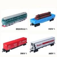仿真轨道电动火车东风4B蒸汽机车高铁动车模型儿童益智拼装玩具
