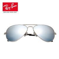 RayBan雷朋太阳镜男女款蛤蟆镜个性前卫偏光彩膜反光镜面0RB3025 019/W3