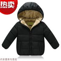 冬季儿童羽绒棉衣外套男童女童保暖羊羔绒棉袄婴儿加绒加厚短外套秋冬新款