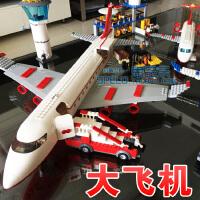 航天系列客机拼装积木男孩机场飞机乐高玩具儿童新年礼物长征五号
