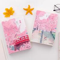 创意樱花素描本A5速写本绘画画本32k日式空白手账本美术水彩本子