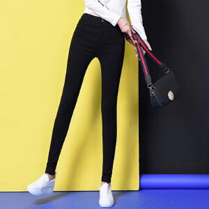 2017打底裤女裤外穿秋冬季新款黑色紧身弹力小脚铅笔长裤款