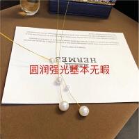 天然淡水珍珠项链德国品牌Eva Strepp同款网红款小红书推荐款进口 进口金 圆珠强光基本无暇