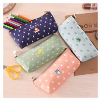 【单品包邮买二赠一】动物家族 笔袋 韩国 创意 文具 可爱 小清新 碎花 帆布 文具袋