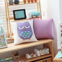 猫头鹰抱枕卡通靠垫装饰儿童沙发靠垫抱枕含芯