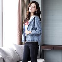 牛仔秋装外套女士新款宽松原宿风学生短款韩版个性时尚潮流百搭 牛仔蓝