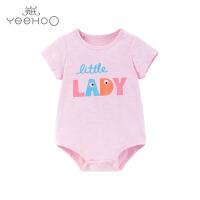 【直降】英氏婴儿连体衣 女宝夏季短袖纯棉连身衣外出哈衣 184A0193