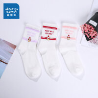 [到手价:27.9元]一包3双 真维斯女装秋装 时尚印花短袜