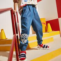 【3件2折:57.8元】男童装牛仔裤薄款2021夏季款儿童防蚊裤韩版潮中大童洋气长裤子