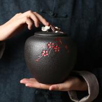 孔雀蓝陶瓷大小号密封茶叶罐茶仓 家用功夫茶具存茶罐