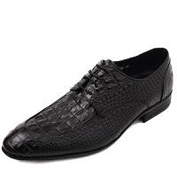 DAZED CONFUSED 潮牌 英伦鳄鱼纹男士正装皮鞋 透气商务休闲鞋男单鞋潮