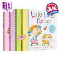 【中商原版】Lulu系列我爱露露绘本 幼儿启蒙认知翻翻书4册 Lulu Loves Noises/Colours/Sha