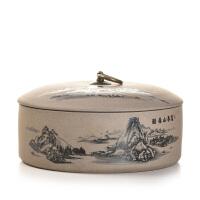 普洱罐老岩泥罐子陶瓷陶土罐放茶叶茶罐茶筒罐茶饼大号茶叶罐
