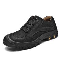 户外男鞋透气登山鞋男士牛皮休闲皮鞋运动防水徒步鞋