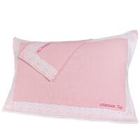 三利 纯棉布艺边花纹样枕巾1对 AB版 53×75cm/2条装