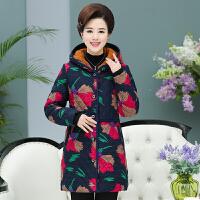 中年女冬装棉衣中长款40岁50妈妈冬季外套老年人保暖棉袄加厚