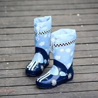 �和�雨鞋男童�z鞋中大童雨靴����水鞋女小童�W生小孩四季通用