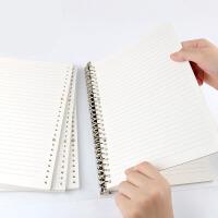 26孔活页纸a5活页方格本替芯康奈尔网格记事本子活页纸b5错题英语本替换内芯