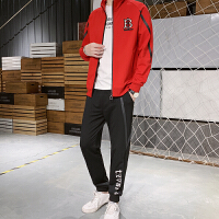 男士卫衣休闲两件套装春秋夹克外套春秋韩版潮流牌运动服两件套