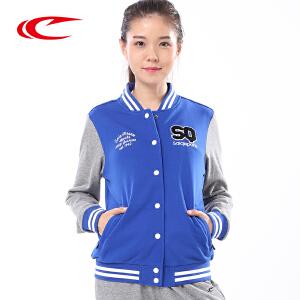 赛琪女装棒球服秋季新品V领时尚透气开衫卫衣运动外套176042