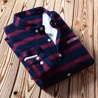 加绒保暖男士衬衫韩版修身2017冬季新款免烫衬衣男装寸衫