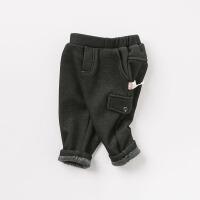 加绒戴维贝拉秋冬新款男童加厚休闲长裤DB8953