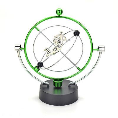 创意家居装饰摆设物理科教旋转地球永动仪 牛顿撞球摆件