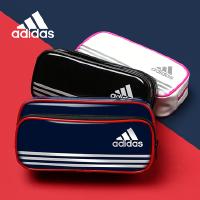 日本UNI三菱adidas阿迪达斯笔袋联名限量版大容量学生用单双层设计多功能文具袋
