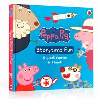 Peppa Pig Storytime Fun 英文原版绘本 粉红猪小妹带CD 精装6合1故事合集 书籍 小猪佩奇 佩