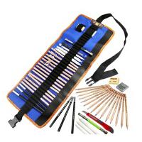 MARCO MARCO 马可素描工具十件套铅笔套装 素描铅笔+笔袋+橡皮+延长器+碳笔