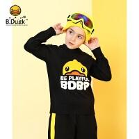 【5.14-5.16抢购价:109元】B.duck小黄鸭童装男童毛衣 新款中小童男孩套头针织衫上衣BF3012901