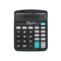 得力计算器837 经济型太阳能双电源计算机837ES