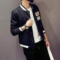 日系潮流春装新款青年立领男士夹克棒球领夹克外套男上衣潮