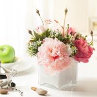 玫瑰整体假花仿真花艺 家居饰品客厅摆件摆饰 花瓶绢花