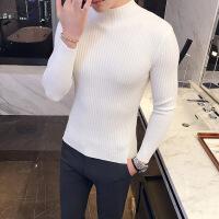 新款冬季半高领毛衣男 韩版潮流S码修身型简约XS号小码针织衫帅