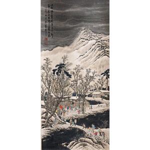 刘子久《山村雪景80011》纸本立轴