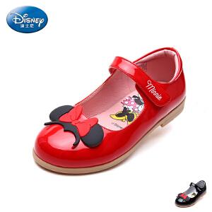 迪士尼童鞋2017年新款米妮头儿童皮鞋时装鞋学生鞋单鞋