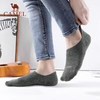 骆驼男士棉质袜夏季薄款防臭浅口短筒袜低帮硅胶防滑吸汗隐形袜潮