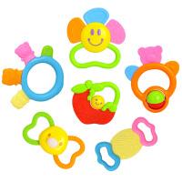 汇乐玩具 919 早教益智玩具宝宝咬咬乐 婴幼儿新生儿手摇铃0-1岁宝宝儿童牙胶6只装