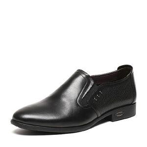 BASTO/百思图夏季专柜同款软面牛皮男皮鞋AKJ12BM6