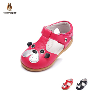 【清仓特惠】暇步士童鞋2017年新款女童真皮凉鞋小童羊皮搭扣宝宝鞋学步鞋 DP9048