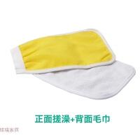 一次性搓澡巾搓背通用单层薄款手套式100只生活日用创意家居 正面澡巾+背面毛巾 100只