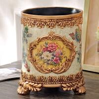 芙蓉盛世系列 欧式宫廷复古装饰品桌面杂物收纳桶垃圾桶 花瓶摆件