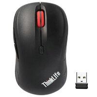 联想Thinkpad 无线鼠标小黑经典笔记本静音鼠标WLM200台式机迷你USB激光OA36193