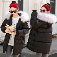 孕妇棉衣冬装厚外套2018新款韩版宽松大码中长款怀孕期羽绒