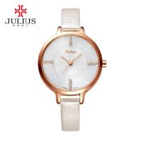 聚利时Julius新款韩国腕表简约水钻设计纤细皮表带时尚女士手表