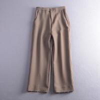 C1FSA23秋冬季韩版新款时尚双口袋直筒休闲裤潮